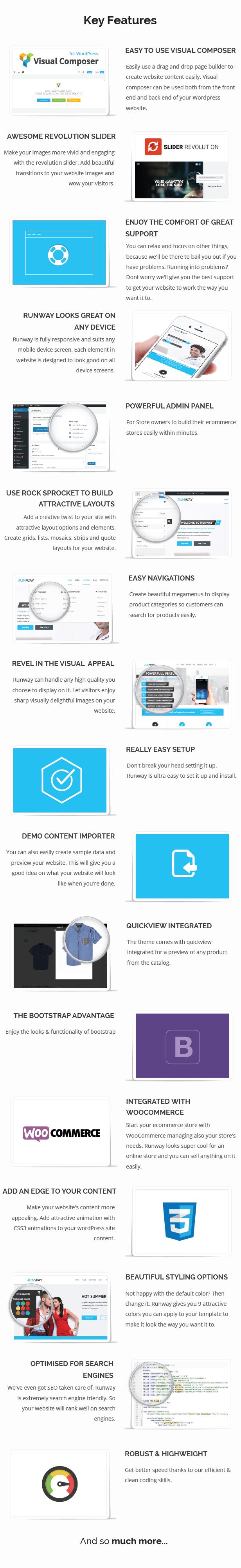 Runway WordPress Theme features