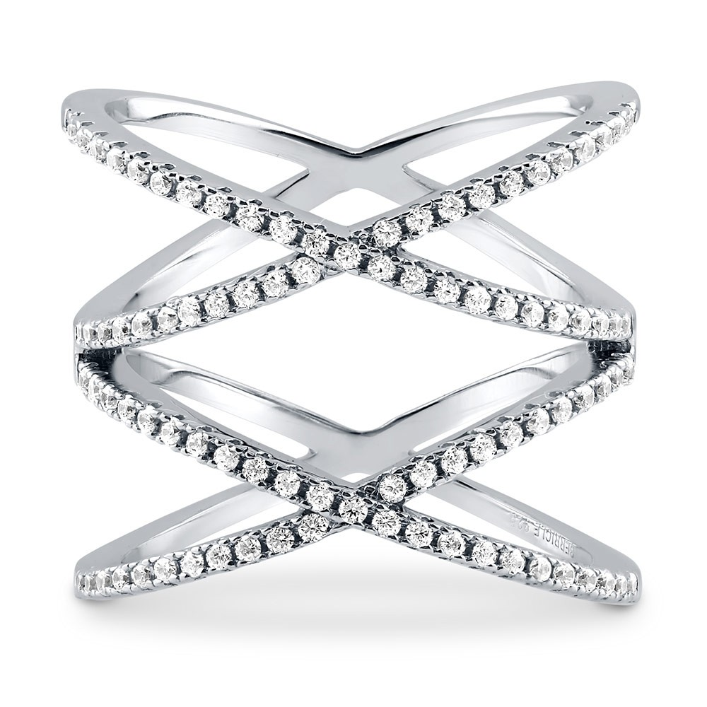 zm sterling crossed mv ring rings accents en cross kaystore diamond engagement kay silver