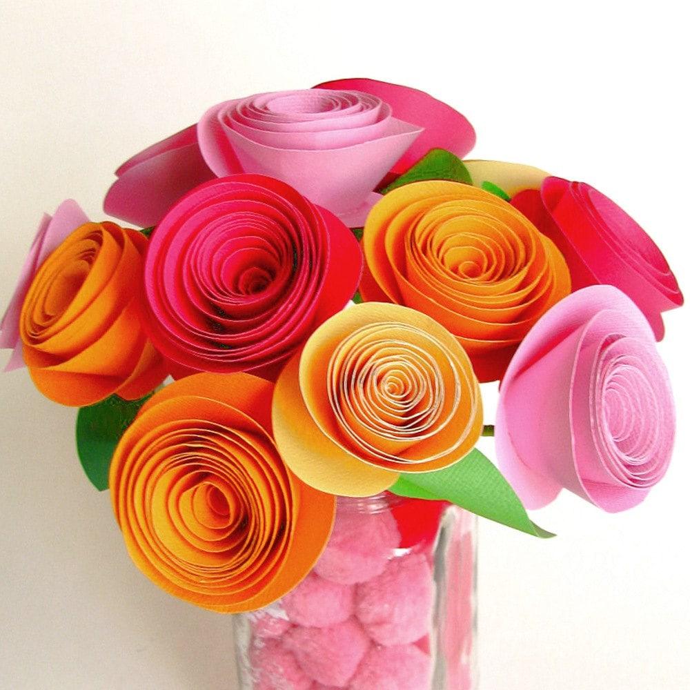 здесь букет цветов из цветной бумаги своими руками было скучно